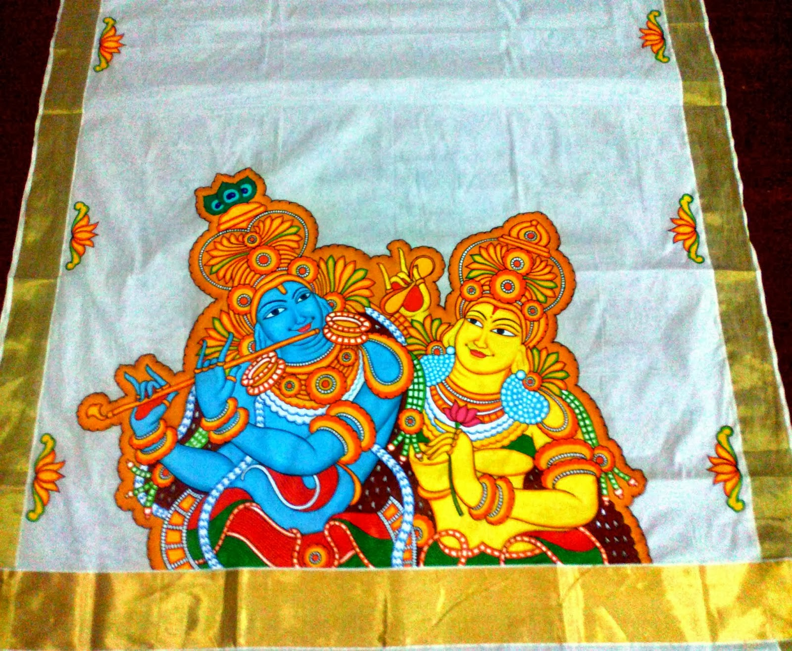 Varnachithra sarees mural for Mural painting designs