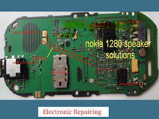 Nokia 1280 speaker problem