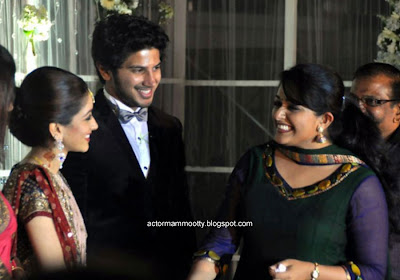 Actress at Mammootty Son Wedding Reception stills