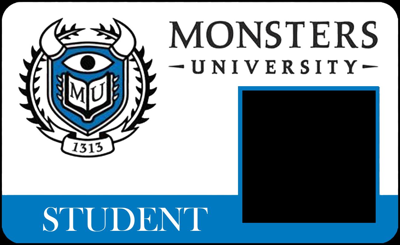 Carnet para estudiantes de la Universidad de Monstruos.