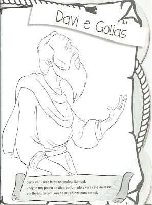 Davi e Golias -história para colorir