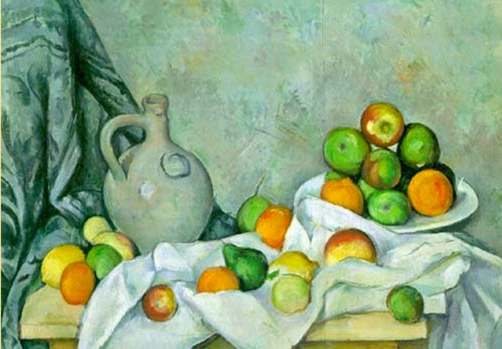 Paul Cézanne Curtain, Jug and Bowl of Fruit