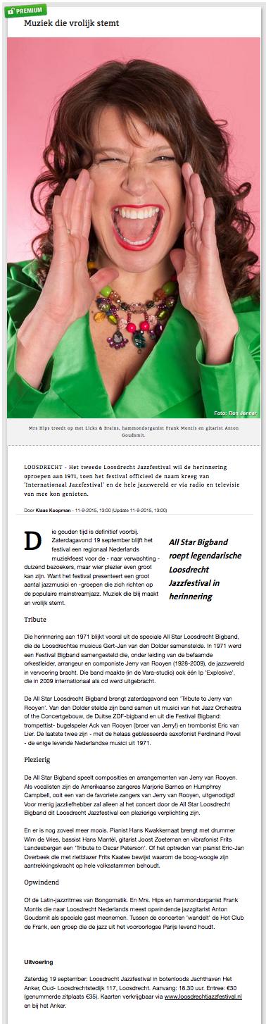 Gooi- en Eemlander over 2015
