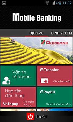 ứng dụng agribank mobile banking