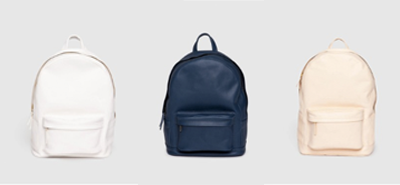 PB 0110 CA7 backpack white, navy, peach