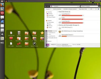 Windows 7 look like Ubuntu