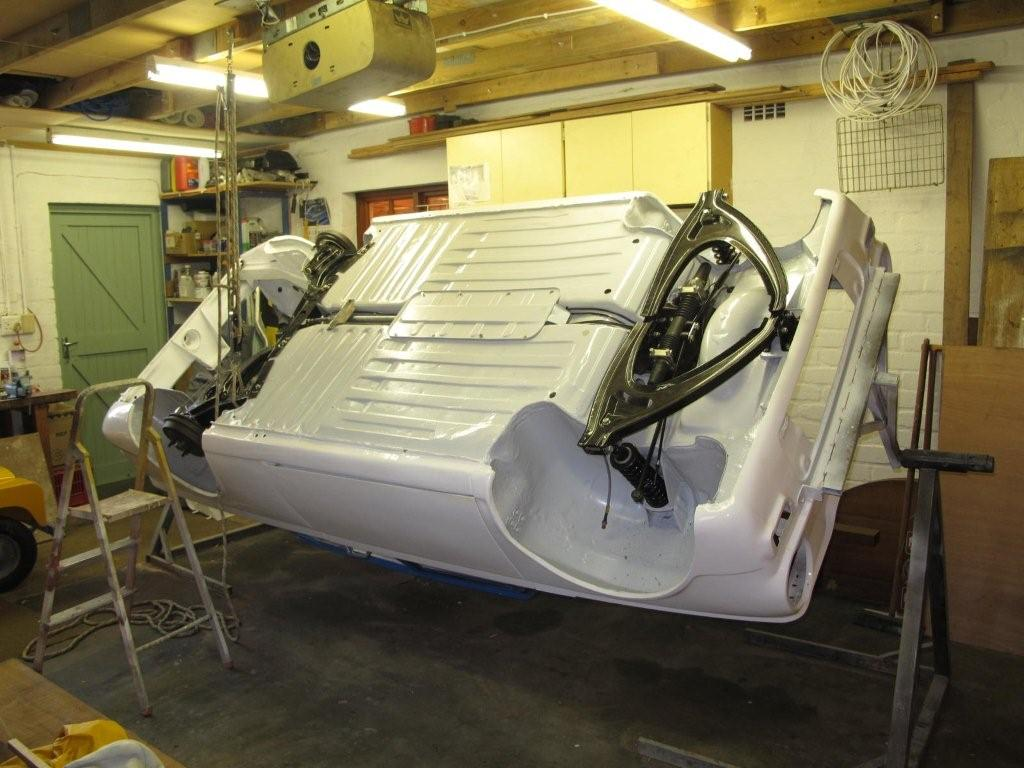 Roys Hillman Imp years: The body rig to turn the Imp shell over with