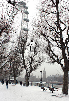 Snow on South Bank