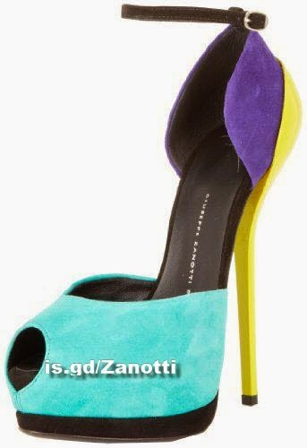 Giuseppe Zanotti Women's Color Block Peep-Toe Ankle Strap Platform Pump