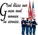 God Bless Our Men and Women in Service