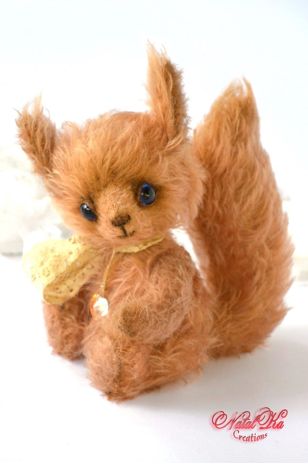 Künstler Eichhörnchen Teddy von Natalka Creations. Авторская белочка тедди от NatalKa Creations