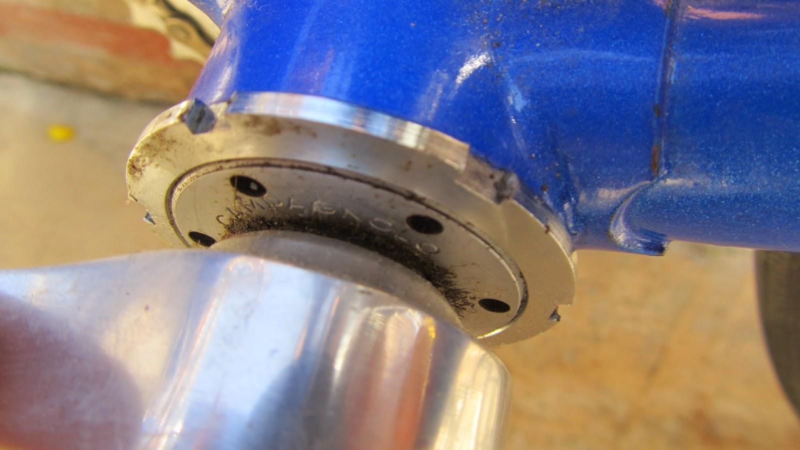 bicicleta orbea contrarreloj - cazoleta pedalier campagnolo record