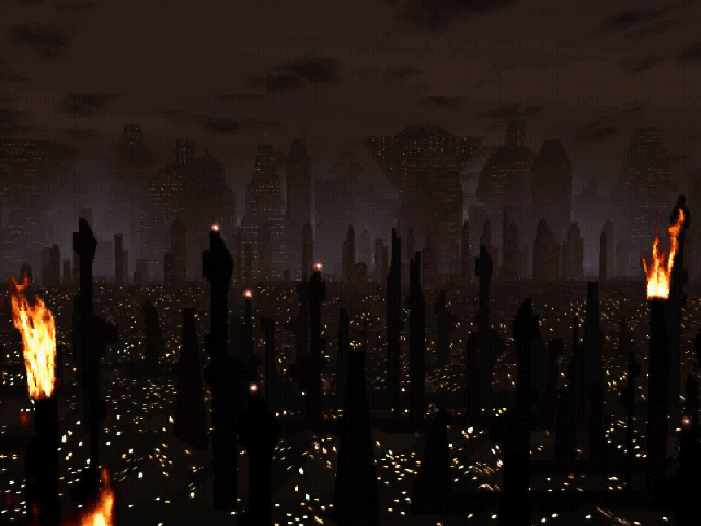 Blade Runner pc game fire towers city
