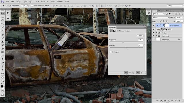 10 Tutorial Photoshop Dramatic Manipulation WAR part 1