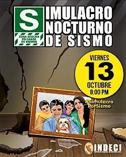 SIMULACRO NOCTURNO DE SISMO