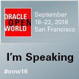 Presento en Oracle Open World 2016!