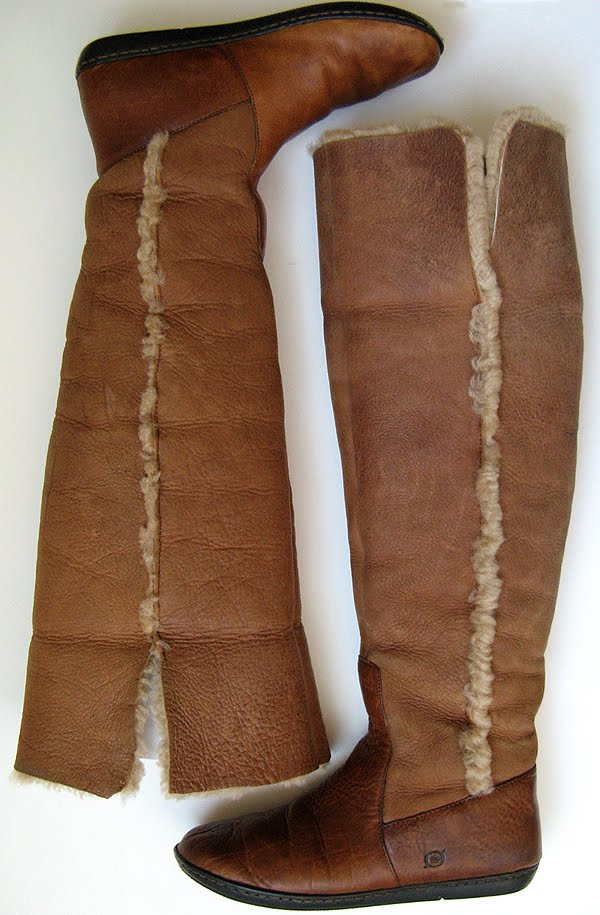 Good Closet Knee High Tall Boots Ugg Boots Born Boots Shearling Boots Size 7