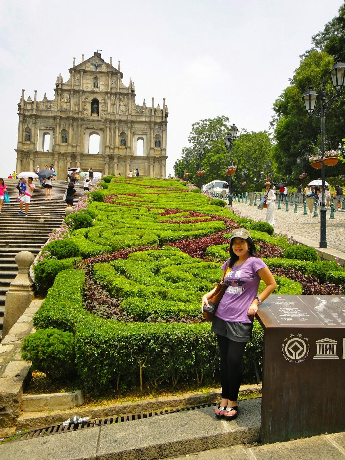 Stairs to St Paul Ruins at Macau