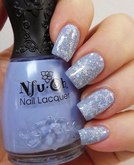 snowflake nails for Christmas
