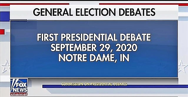 29 de setembro, 21h (NY): First Debate