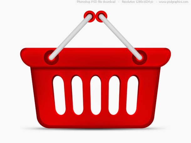 Red Shopping Basket Icon PSD