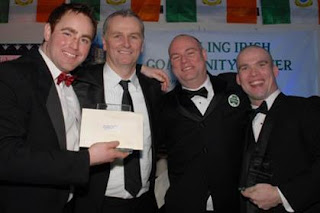 Daithi photographed with the Aisling Center's bachelors of the year