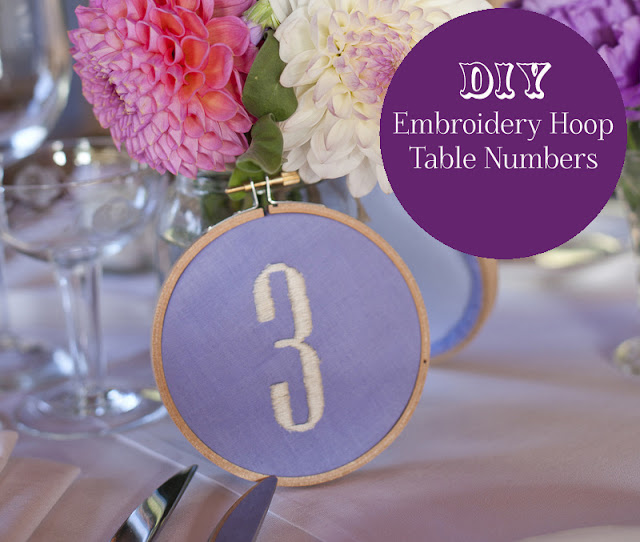 DIY Embroidery Table Numbers  Oh Lovely Day