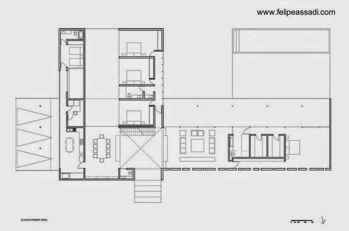 Plano de planta de la residencia