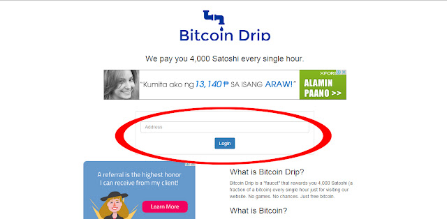 Bitcoin Drip get 4,000 satoshis GUARANTEED EVERY HOUR!!! High Paying ...