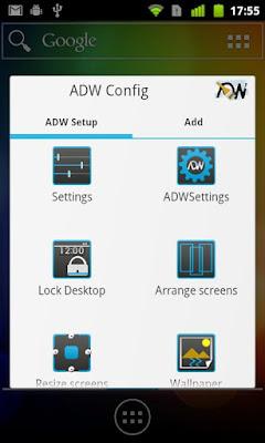 ADW Launcher configuracion