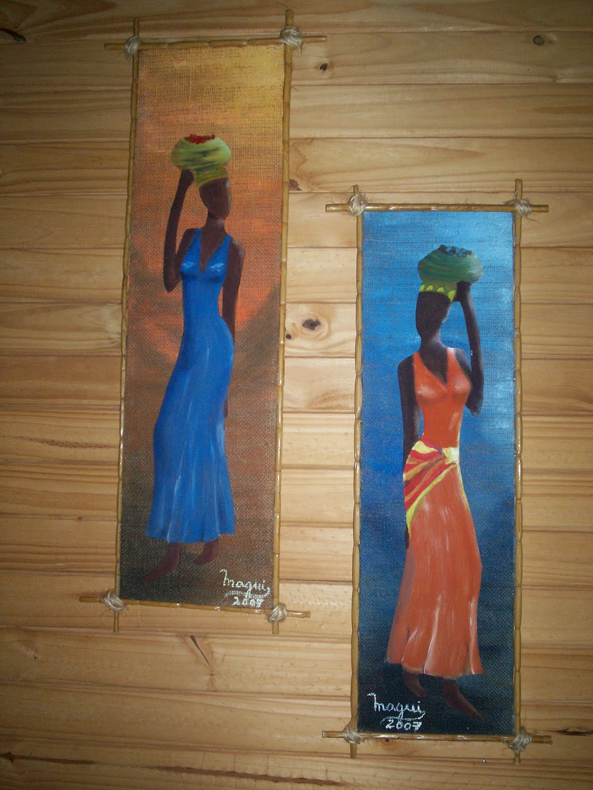 Magui artesan as cuadros r sticos de africanas for Imagenes de cuadros abstractos rusticos