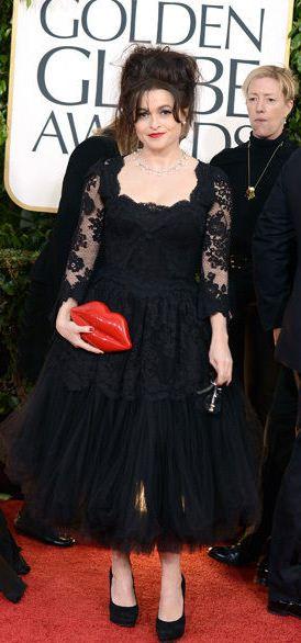 Helena Bonham Carter en los Golden Globes 2013