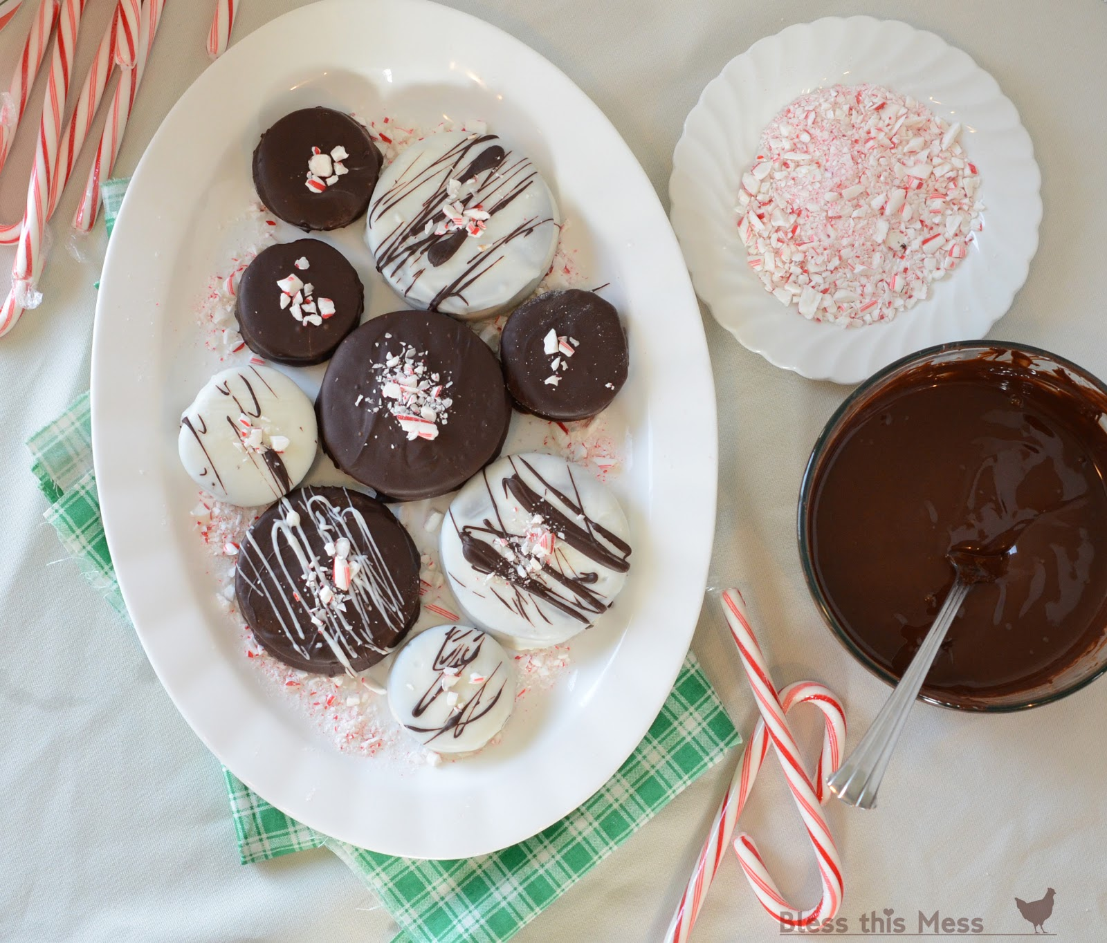 Double Dark Candy Cane Crunch Cookies Bless This Mess