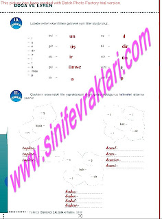 6.Sinif  Turkce Doku Yayinlari Ogrenci Calisma Kitabi Sayfa 70