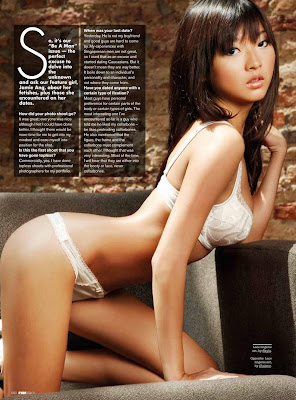 Singaporean model Jamie Ang sexy sensual men's magazine FHM Singapore