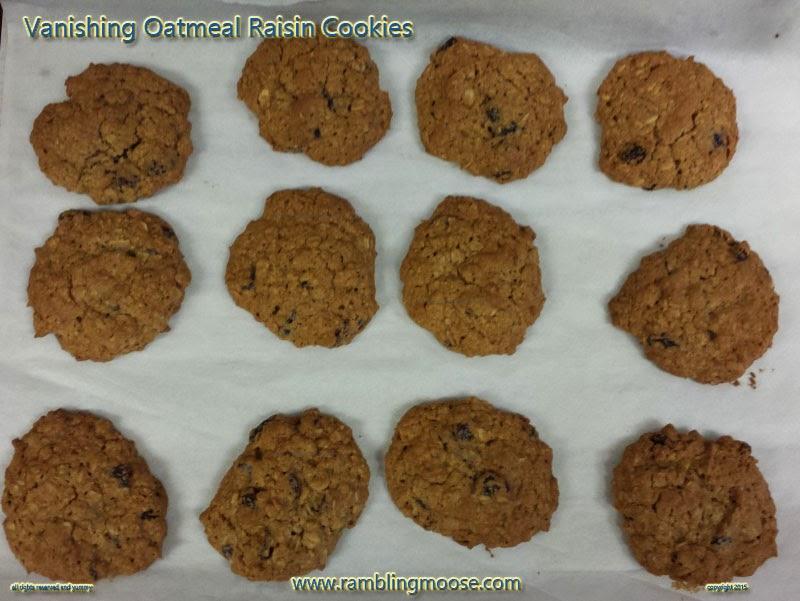 Rambling Moose Quaker Oats Vanishing Oatmeal Raisin Cookies Recipe
