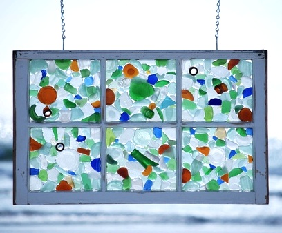 make suncatcher with old window