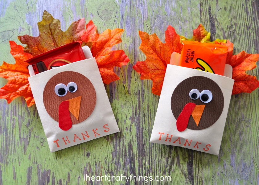 thanksgiving table favors. 2. Optional: Stamp The Word \u201cTHANKS\u201d At Bottom Of Manila Pocket With Your Small Letter Stamps And Pad. Thanksgiving Table Favors N