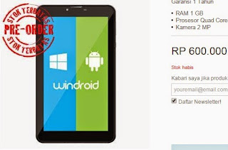 Axioo Windroid 7 WiFi Rp 600.000