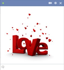Love 3D Emoticon for Facebook