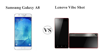 Harga Samsung Galaxy A8 vs Lenovo Vibe Shot, Duel Smartphone Selfie terbaru !
