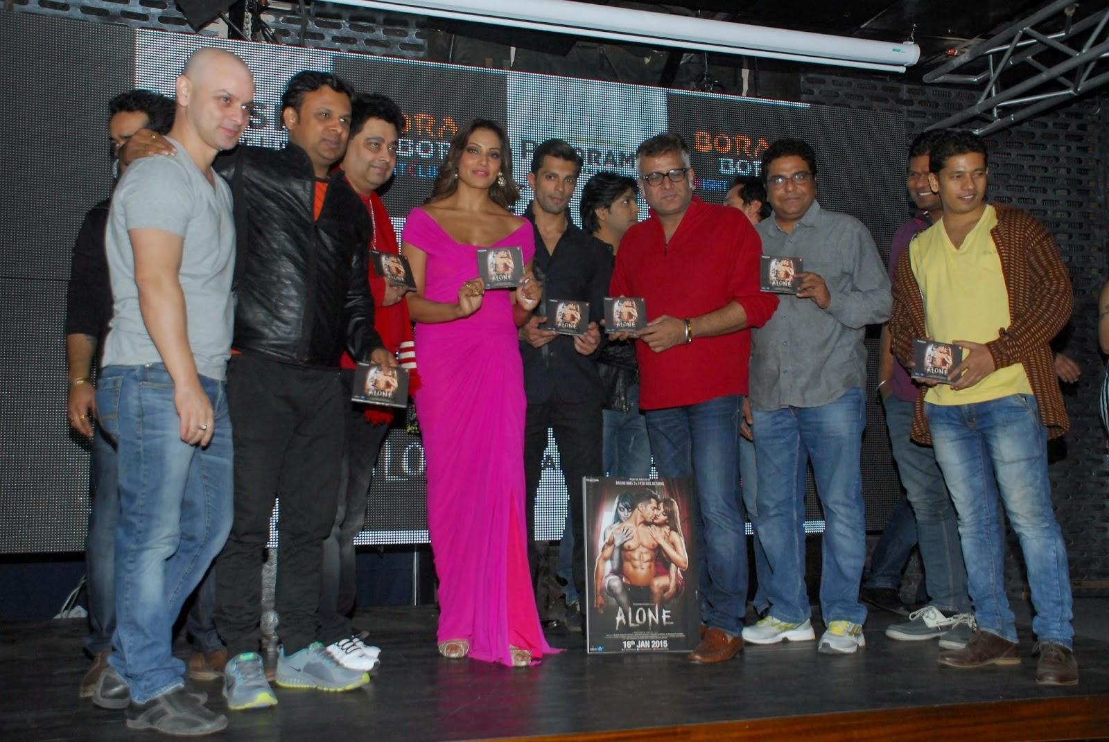 Bipasha Basu Cleavage Show in Alone Movie Music Launch