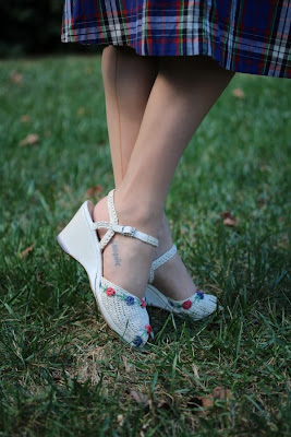 Darling '50s Wedges #vintage #shoes #wedges #1950s #50s