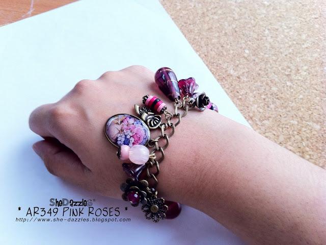 pink-rose-charm-bracelet-malaysia