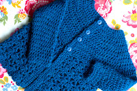 Tutorial: Picot and Lace Sweater for Baby