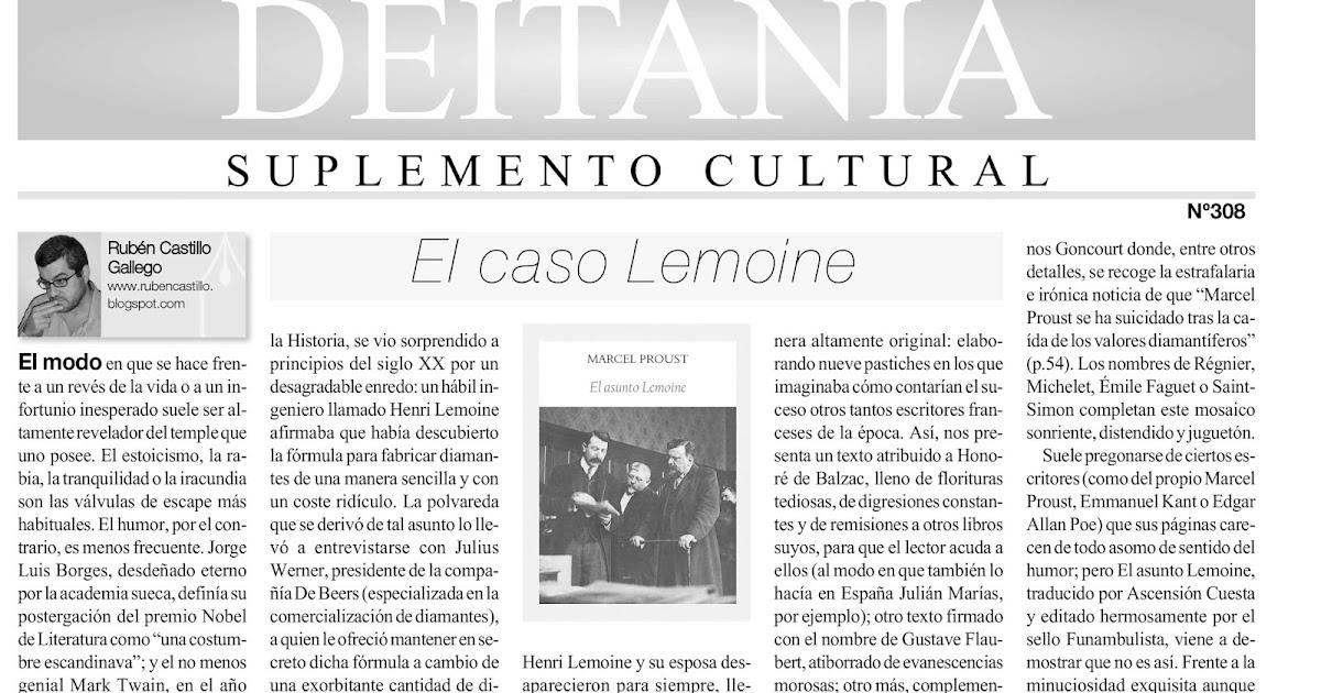 Editorial funambulista el asunto lemoine de marcel for Ejemplo de una editorial de un periodico mural