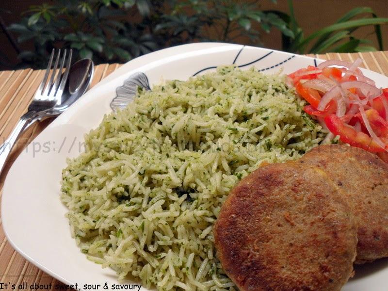 Hara Masala rice