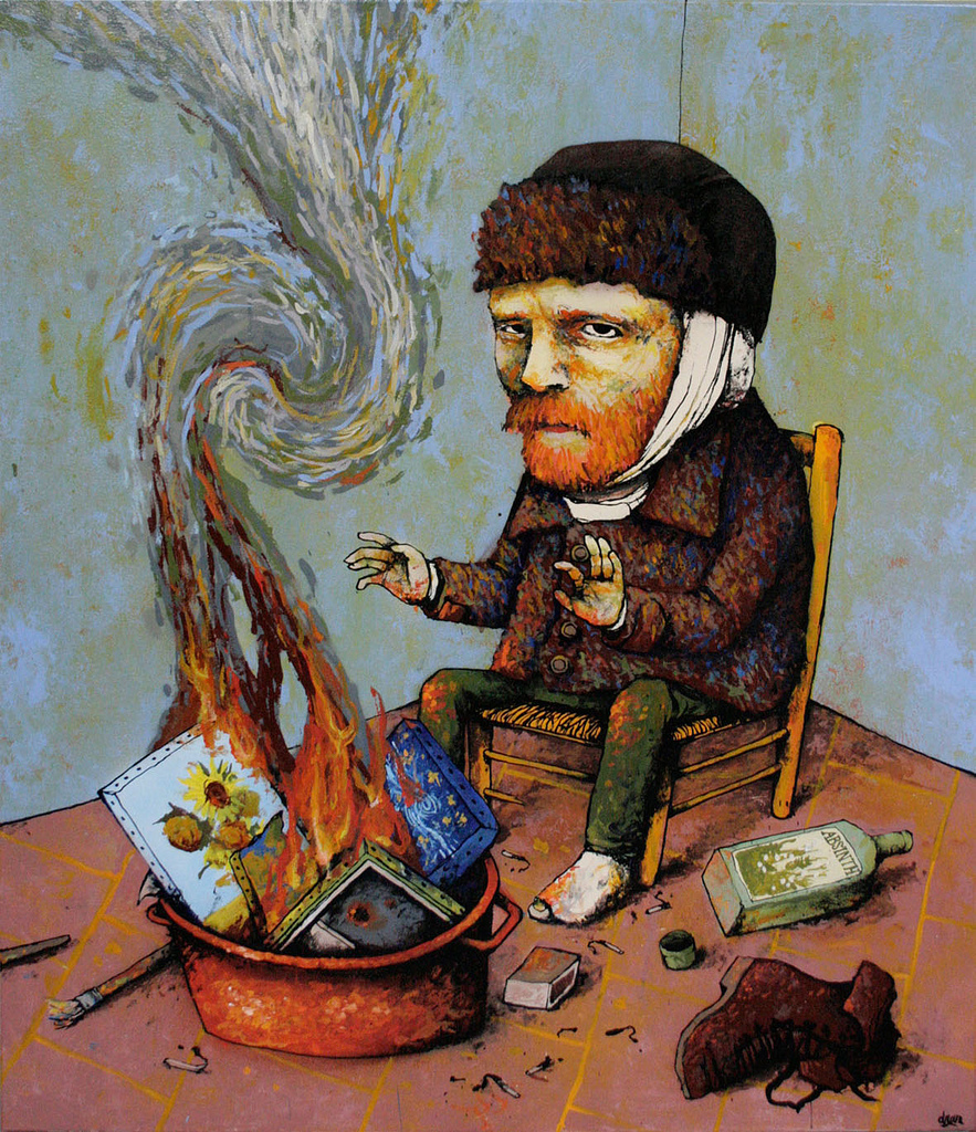 Modern Musicians: French Artist Dran With Black Humor In His Drawings