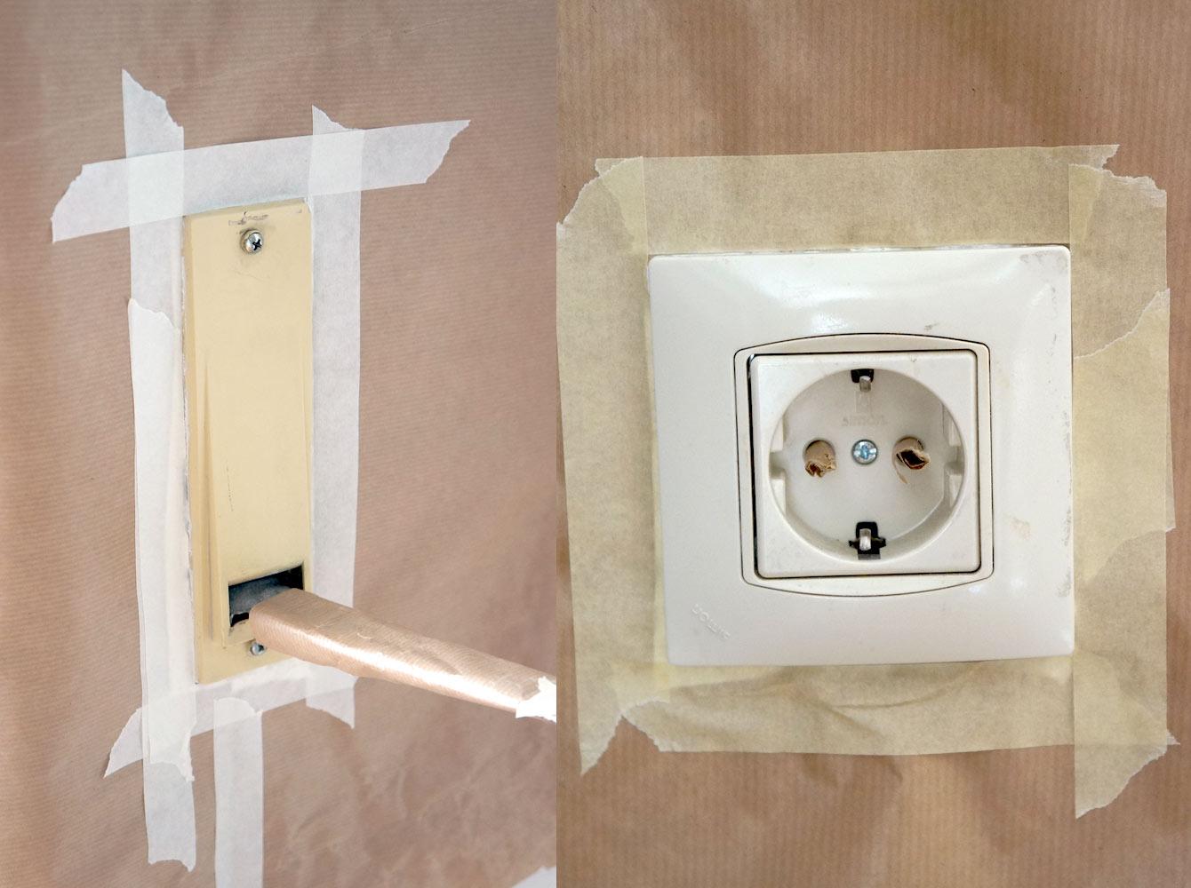 C mo pintar los enchufes e interruptores blog decoraci n - Interruptores y enchufes ...