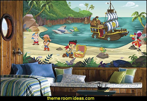 Jake and the Never Land Pirates XL Chair Rail Prepasted Mural